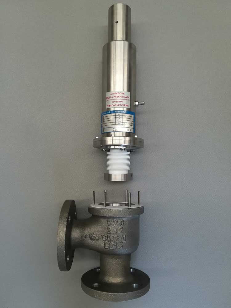 PRESSURE RELIEF VALVES WITH BALANCING BELLOW